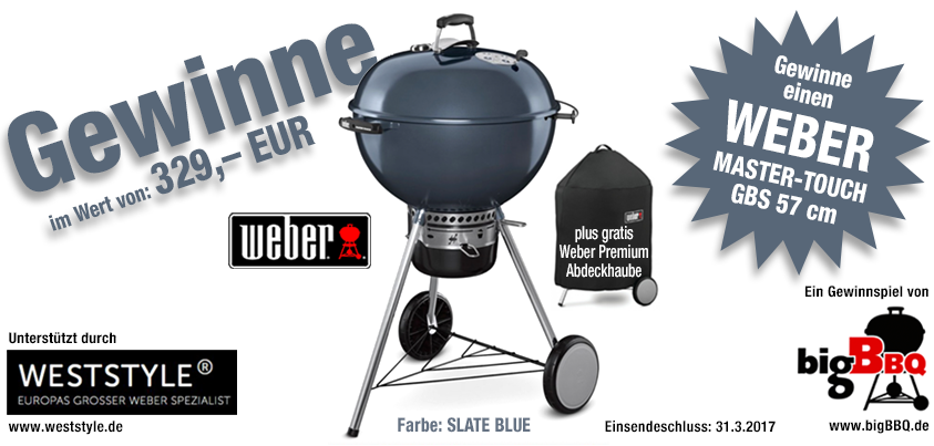 gewinnspiel kugelgrill weber master touch inkl abdeckhaube. Black Bedroom Furniture Sets. Home Design Ideas