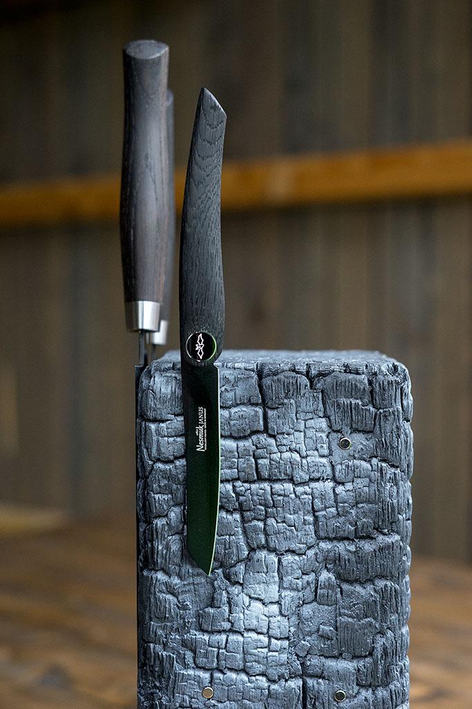 cuttworxs pyrolith messerblock. Black Bedroom Furniture Sets. Home Design Ideas