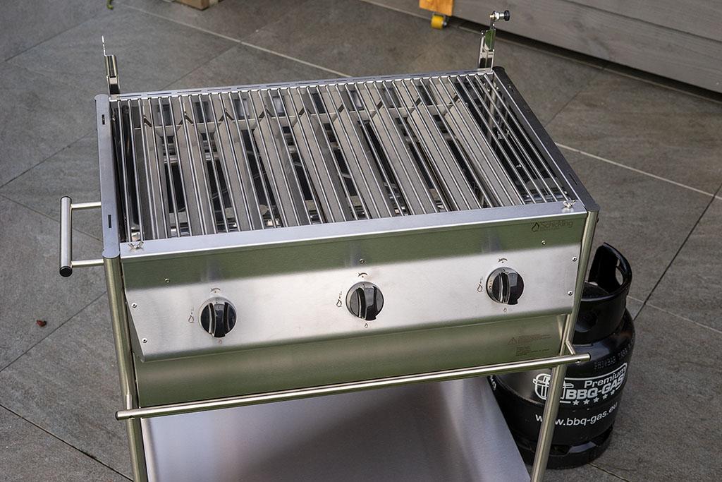 Mobiler Holzkohlegrill Test : Schickling grill premiogas xl im praxis test bigbbq