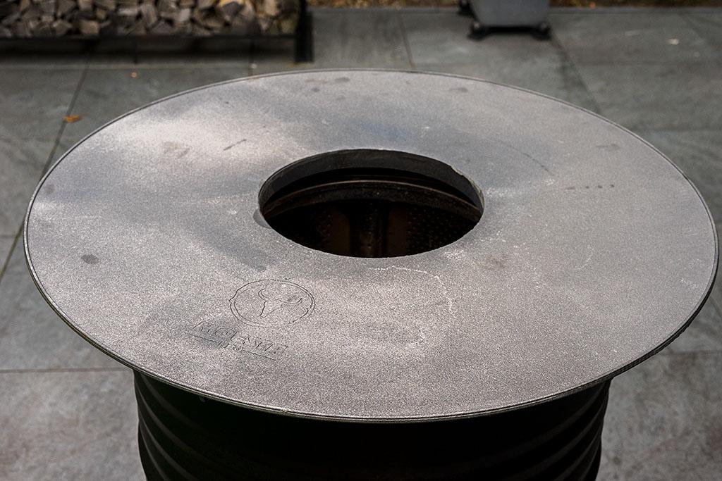 Feuerschale für Feuertonne Feuerkorb Stahlfass Feuerplatte Zubehör von GURIRU