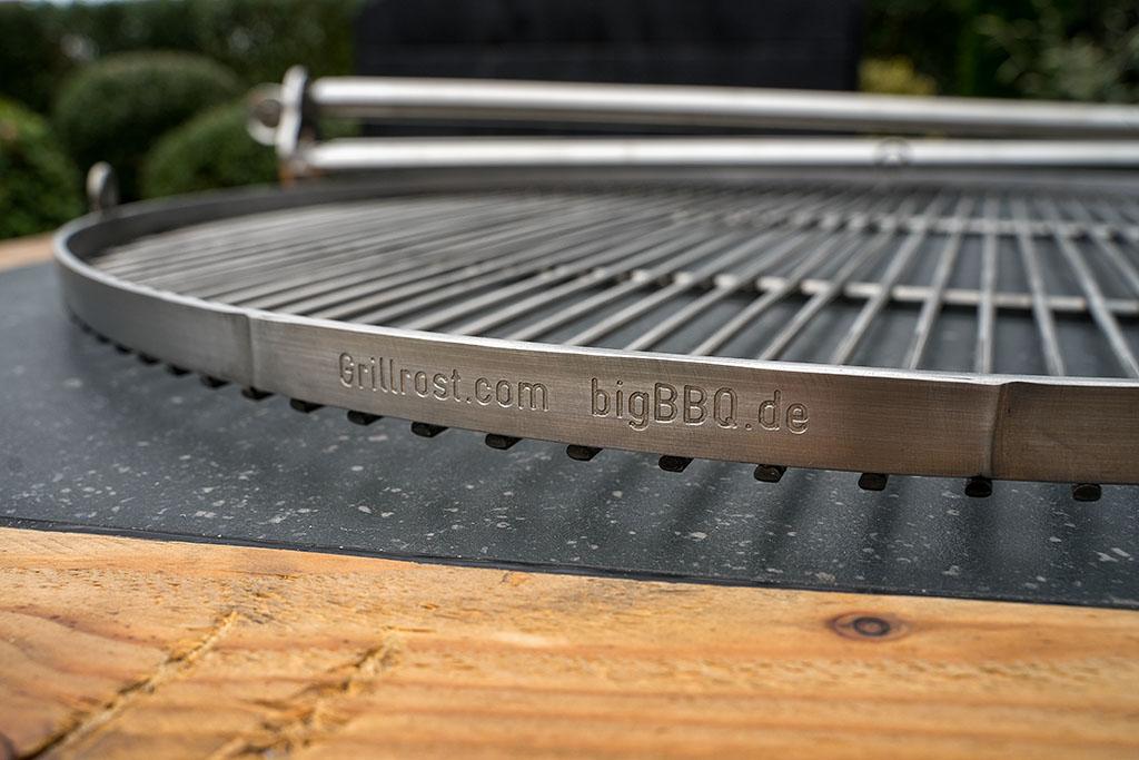 Grillrost passt zu Weber Q200 Q2000 1-Teilig aus Edelstahl Stärke 5mm von GURIRU